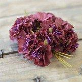 Tige fleur dragée bordeaux