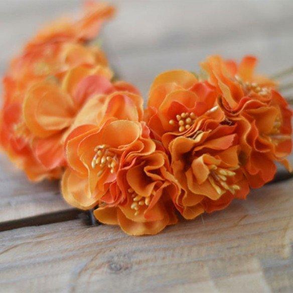 Tige fleur dragée orange