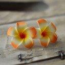 Fleur frangipannier artificielle orange