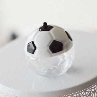 Boite dragée ballon football noir et blanc