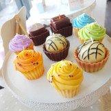 Bougie cupcake verte