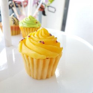 Bougie cupcake jaune