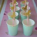 Pailles rose licorne orX25