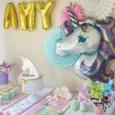 Ballon licorne anniversaire