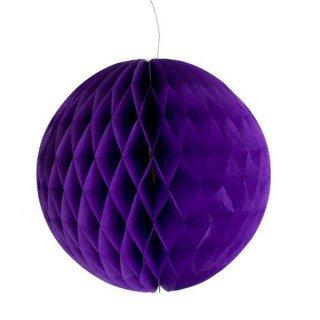 Boule alvéolée violet 20cm