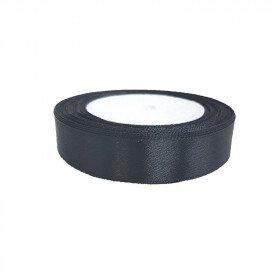 Ruban satin Noir 2cm X 20metres