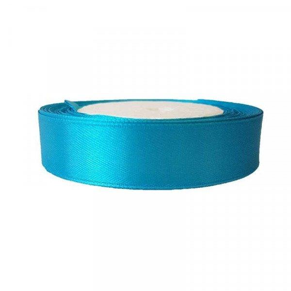 Ruban satin Bleu turquoise 2cm X 20metres
