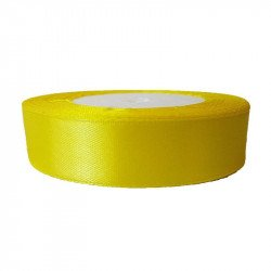 Ruban satin jaune citron 20mm