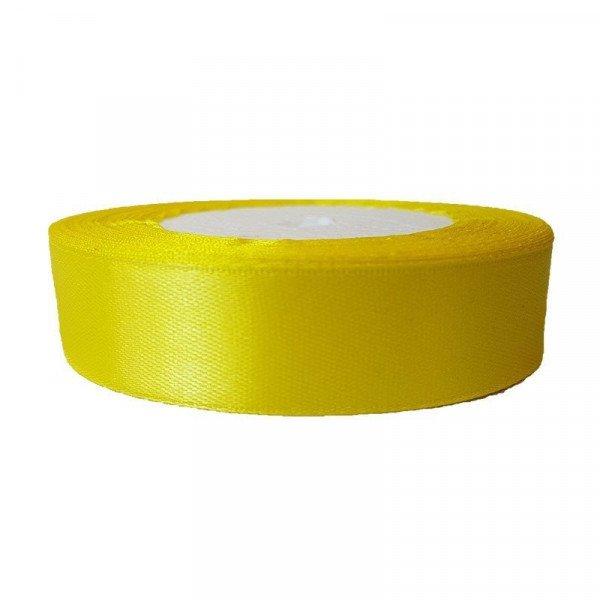 Ruban satin jaune citron 20mm