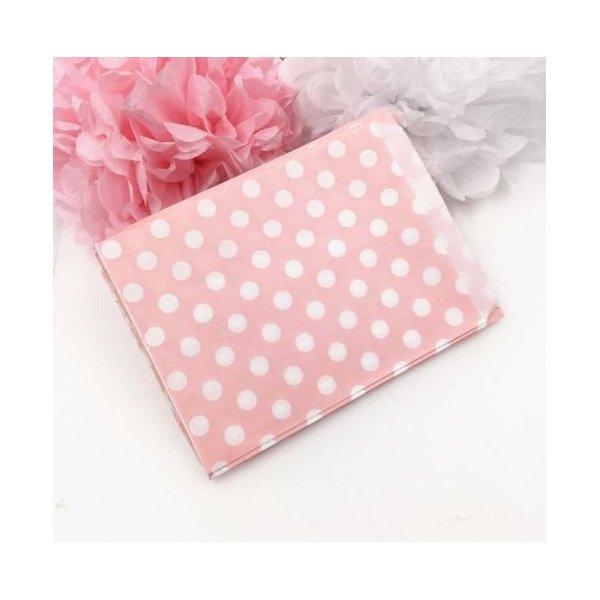 Sachet bonbons rose à poisX10