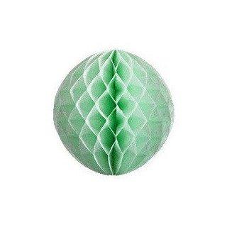 Boule alvéolée papier vert d'eau 30cm