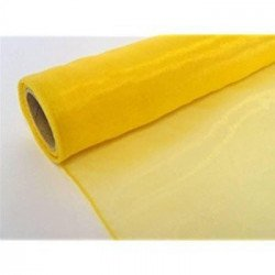Chemin de table organza jaune clair