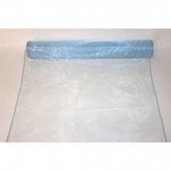 Chemin de table organza bleu ciel