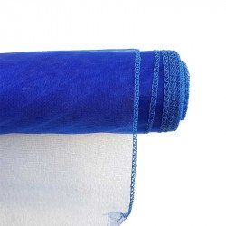 Chemin de table organza bleu roi