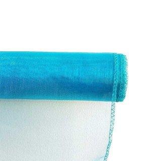 Chemin de table organza bleu turquoise