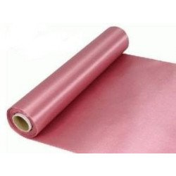 Chemin de table satin vieux rose