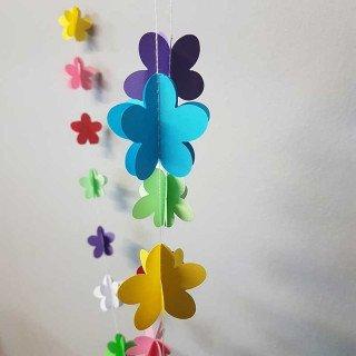 Guirlande papier fleur multicolor