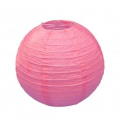 Boule Lampion papier rose 30cm