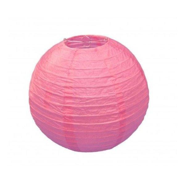 Boule Lampion papier rose 30cm