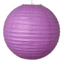 Boule Lampion papier parme foncé 40cm