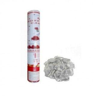 Canon à confettis de pétales de roses blanches