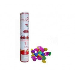 Canon confetti coeur brillant (mix couleur)