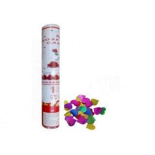 Canon confetti coeur brillant (mix couleur)