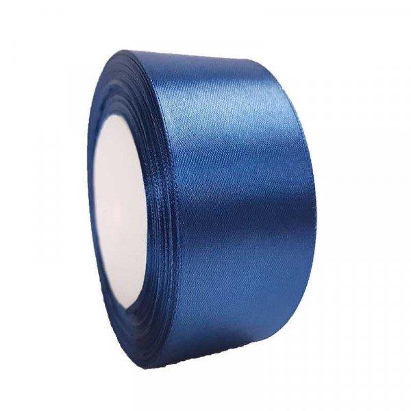 Ruban satin bleu marine 40mm