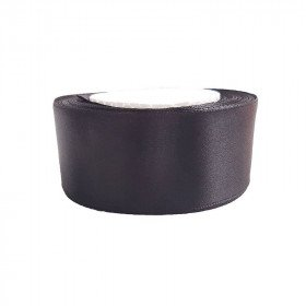 Ruban satin Noir 4cm
