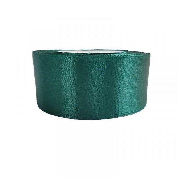 Ruban satin vert émeraude 4cm