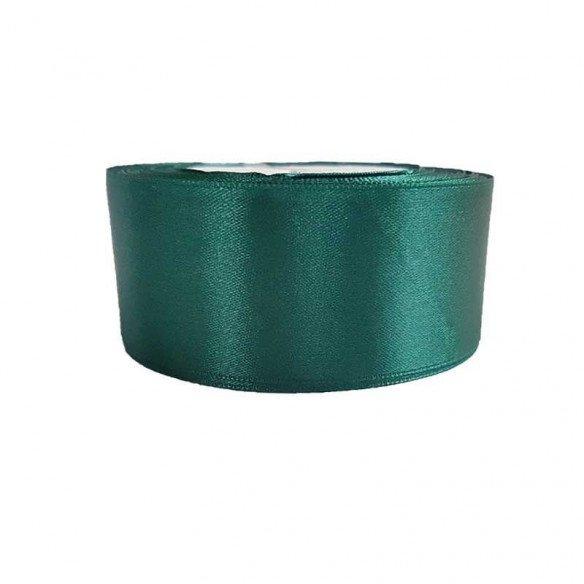 Ruban satin vert émeraude 4cmx20m