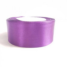 Ruban satin violet 4cm