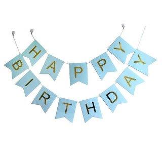 Guirlande joyeux anniversaire bleu