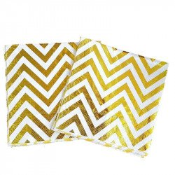 Serviette papier chevron or x20