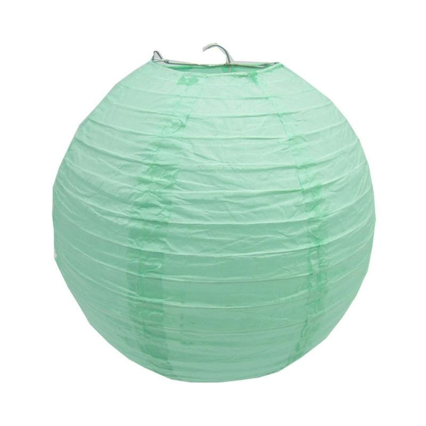 Boule Lampion papier vert d'eau 30cm