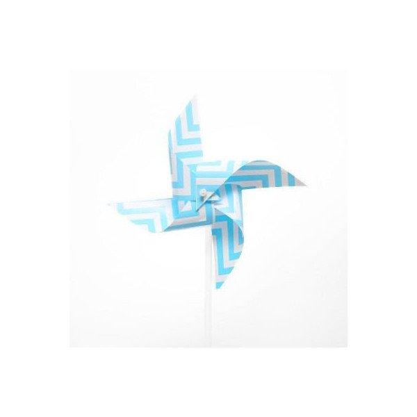 Moulin à vent deco bleu
