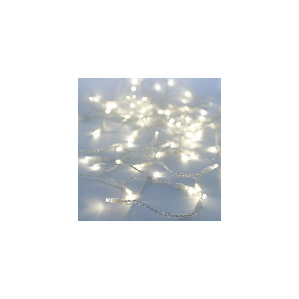 Guirlande 100 led  blanche a pile