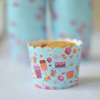 Caissette a cupcake gourmandise, lot de 24