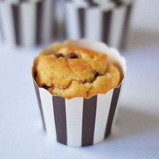 Caissette a cupcake rayé marron, lot de 24