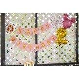 Guirlande joyeux anniversaire rose