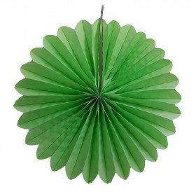 Rosace papier vert d'eau 30cm