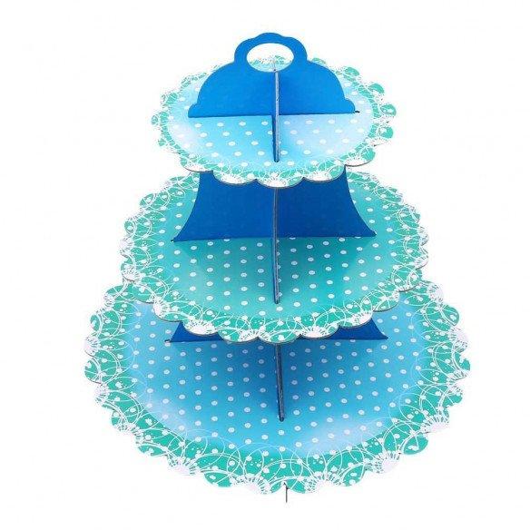 Support cupcake carton vert d'eau