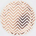 10 assiettes chevron rose gold