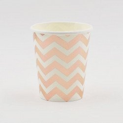 10 gobelets chevron rose gold