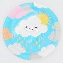 10 Assiettes nuage en carton