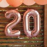 Ballon chiffre rose gold