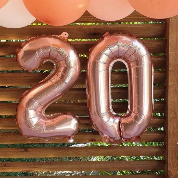 Ballon chiffre rose gold 30cm