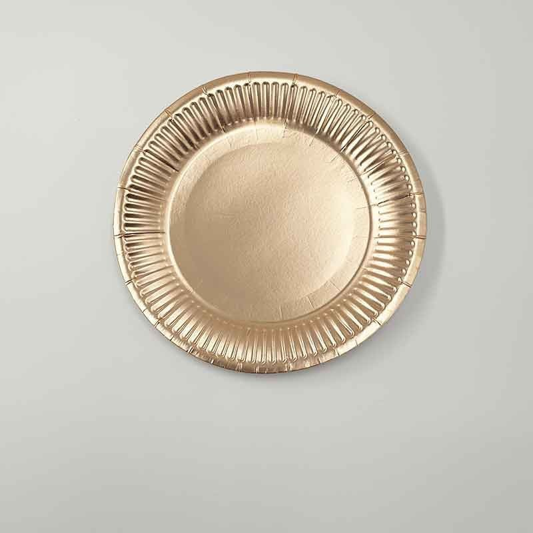 10 petites assiettes rose gold carton