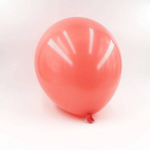 6 ballons rouge corail 30cm