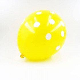 6 ballons jaunes à pois